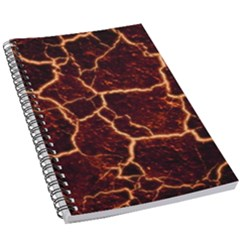 Lava Cracked Background Fire 5 5  X 8 5  Notebook by Wegoenart