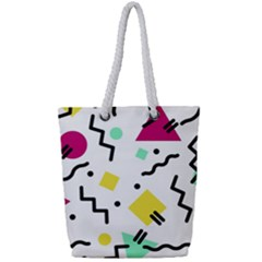 Background Abstract Art Full Print Rope Handle Tote (small)