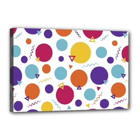 Background Background Polka Dot Canvas 18  X 12  (stretched)