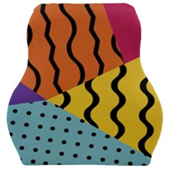 Background Abstract Memphis Car Seat Velour Cushion
