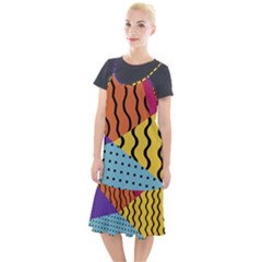 Background Abstract Memphis Camis Fishtail Dress