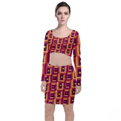 Vintage Abstract Background Top And Skirt Sets