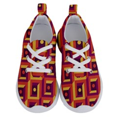 Vintage Abstract Background Running Shoes