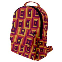 Vintage Abstract Background Flap Pocket Backpack (small)