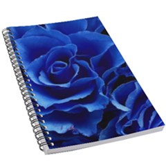 Blue Roses Flowers Plant Romance 5 5  X 8 5  Notebook