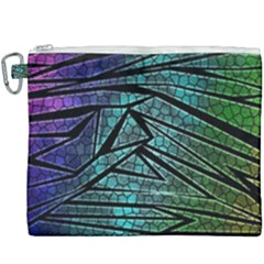 Abstract Background Rainbow Metal Canvas Cosmetic Bag (xxxl) by Wegoenart