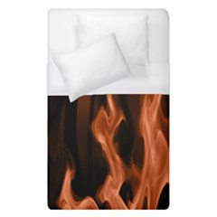Smoke Flame Abstract Orange Red Duvet Cover (single Size)