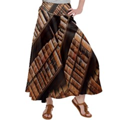 Books Bookshelf Classic Collection Satin Palazzo Pants