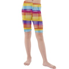 Art Background Abstract Kids  Mid Length Swim Shorts