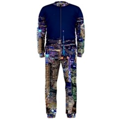 New York Manhattan Night Building Onepiece Jumpsuit (men)