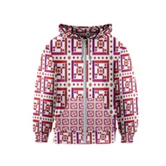 Background Abstract Square Kids  Zipper Hoodie