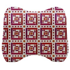 Background Abstract Square Velour Head Support Cushion