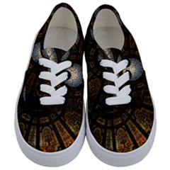 Art Ceiling Dome Pattern Kids  Classic Low Top Sneakers