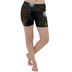 Art Ceiling Dome Pattern Lightweight Velour Yoga Shorts