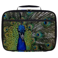 Peacock Close Up Plumage Bird Head Full Print Lunch Bag