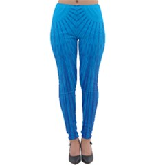 Blue Rays Background Image Lightweight Velour Leggings