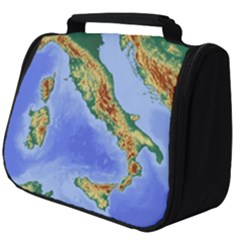 Italy Alpine Alpine Region Map Full Print Travel Pouch (big)