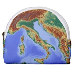 Italy Alpine Alpine Region Map Horseshoe Style Canvas Pouch