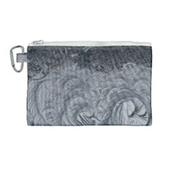 Abstract Ice Frost Crystals Frozen Canvas Cosmetic Bag (large)
