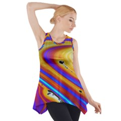 Abstract Architecture Background Side Drop Tank Tunic by Wegoenart
