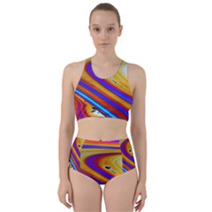 Abstract Architecture Background Racer Back Bikini Set