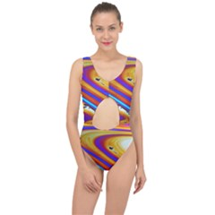 Abstract Architecture Background Center Cut Out Swimsuit by Wegoenart