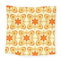 Background Floral Forms Flower Square Tapestry (large) by Wegoenart