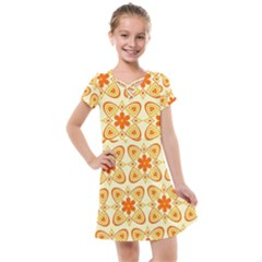 Background Floral Forms Flower Kids  Cross Web Dress by Wegoenart