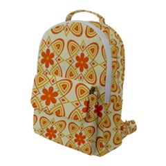 Background Floral Forms Flower Flap Pocket Backpack (large)