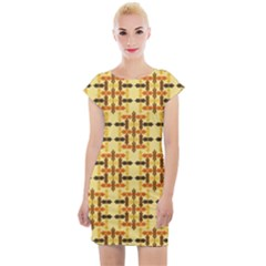 Abstract Background Vintage Cap Sleeve Bodycon Dress