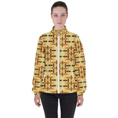 Abstract Background Vintage High Neck Windbreaker (women)
