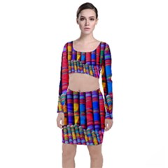Substances Colorful Towels Scarf Top And Skirt Sets