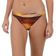 Desert Sun Landscape Sunset Dune Band Bikini Bottom