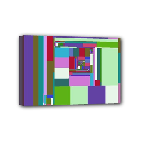 Fractal Gradient Colorful Infinity Art Mini Canvas 6  X 4  (stretched) by Wegoenart