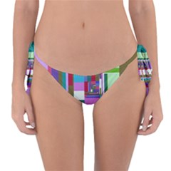 Fractal Gradient Colorful Infinity Art Reversible Bikini Bottom