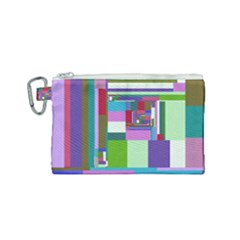 Fractal Gradient Colorful Infinity Art Canvas Cosmetic Bag (small)