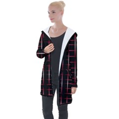 Background Texture Pattern Longline Hooded Cardigan
