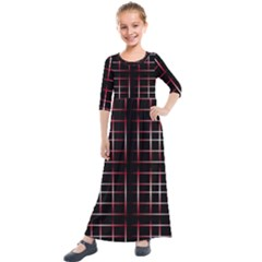 Background Texture Pattern Kids  Quarter Sleeve Maxi Dress by Wegoenart