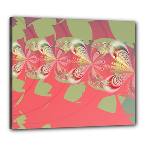 Fractal Gradient Colorful Infinity Canvas 24  X 20  (stretched) by Wegoenart