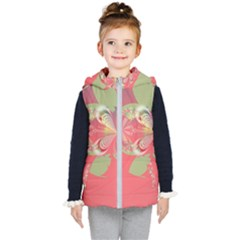 Fractal Gradient Colorful Infinity Kids  Hooded Puffer Vest by Wegoenart