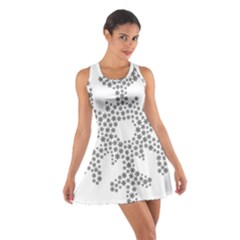 Snowflake Silhouette Fractal Cotton Racerback Dress