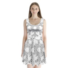 Snowflake Silhouette Fractal Split Back Mini Dress