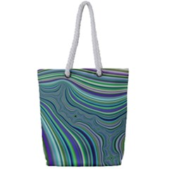 Art Fractal Gradient Colorful Infinity Pattern Full Print Rope Handle Tote (small)