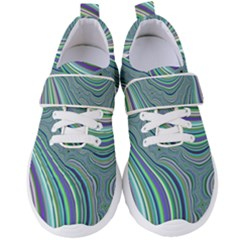 Art Fractal Gradient Colorful Infinity Pattern Women s Velcro Strap Shoes by Wegoenart