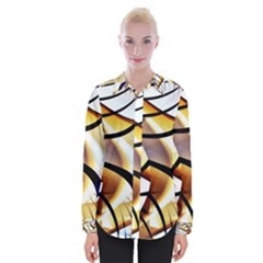 Pattern Fractal Gold Pointed Womens Long Sleeve Shirt