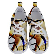 Pattern Fractal Gold Pointed Running Shoes