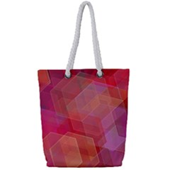 Abstract Background Texture Full Print Rope Handle Tote (small)
