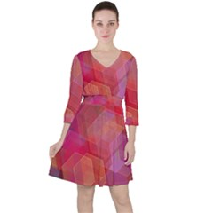 Abstract Background Texture Ruffle Dress