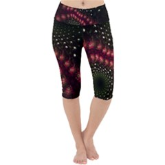 Background Texture Pattern Art Lightweight Velour Cropped Yoga Leggings