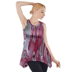 Fractal Gradient Colorful Infinity Side Drop Tank Tunic
